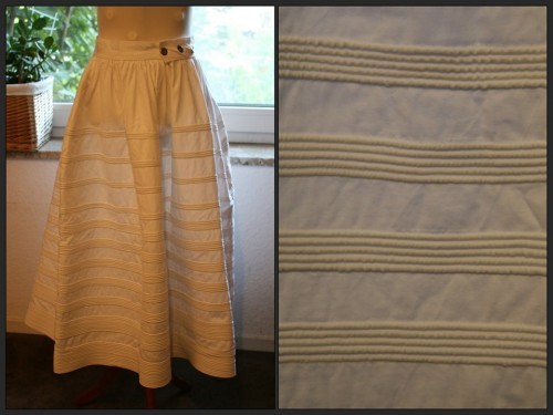 Diana's 1830s-40s corded petticoat for the HSF '14