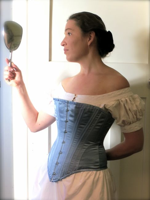 1880s corset & chemise thedreamstress.com
