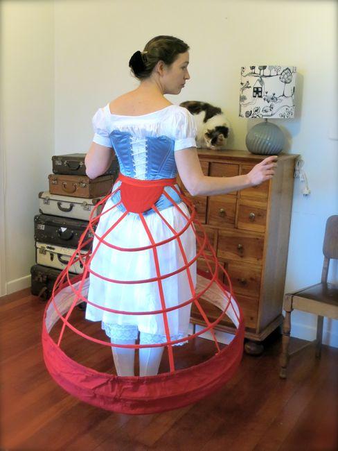 1860s elliptical crinoline thedreamstress.com