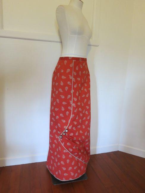 1913 asymmetrical paisley skirt