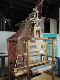 Jacquard loom at the Museum of Science and Industry, Manchester, England