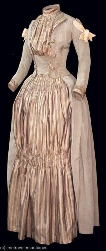 Dress, circa 1887 via Time Traveller Antiques