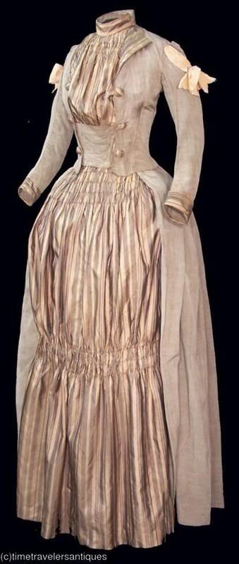 Dress, circa 1887 via Time Traveller Antiques