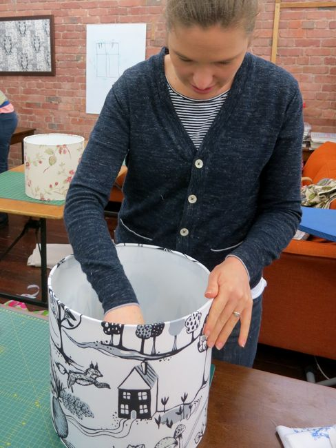 Lampshade making at Made on Marion thedreamstress.com