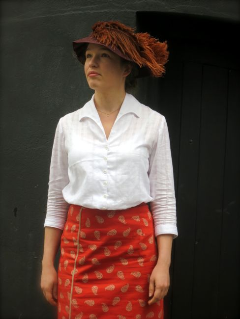 1910s checked blouse thedreamstress.com