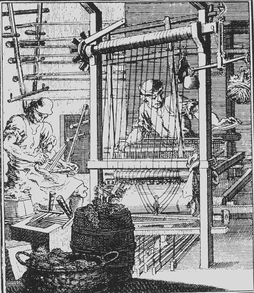 The Weaver, 1698, Christoph Weigel.