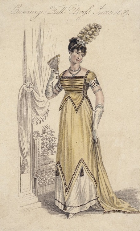 Full evening dress, June 1809, La Belle Assemblée