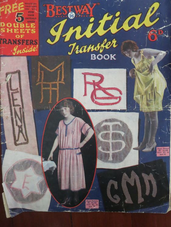 Early 1920s Bestways Initial Transfer book thedreamstress.com