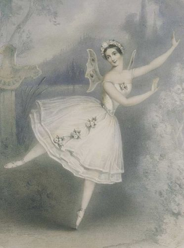 Carlotta Grisi in the tite role of Adam's Giselle, Paris, 1841, lithograph by an unknown artist
