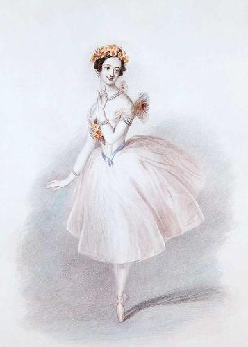 Marie Taglioni dancing the title role in La Sylphide, 1832