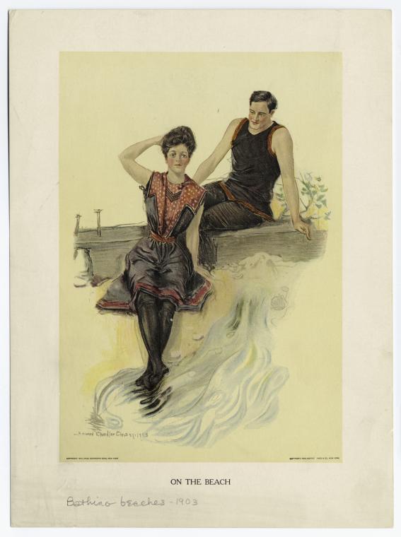 On the beach, Christy, Howard Chandler (1873-1952), 1903, NYPL