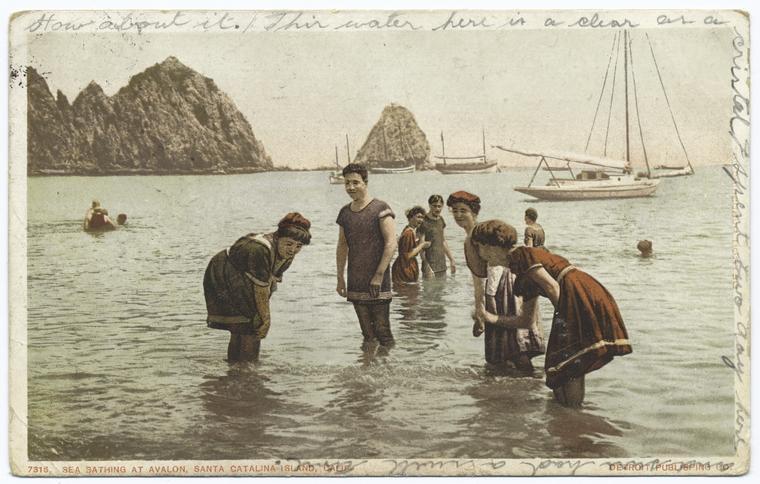 Sea Bathing, Avalon, Santa Catalina, Calif. (1903-1904), NYPL MFY 95-29