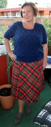 Eva's 1930s plaid skirt, HSF 14, Challenge #14