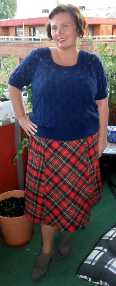 Eva's 1930s plaid skirt, HSF 14, Challenge #14
