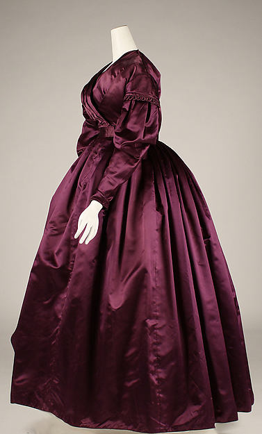 Dress, ca. 1840, British, Silk, Metropolitan Museum of Art, 1999.216.4