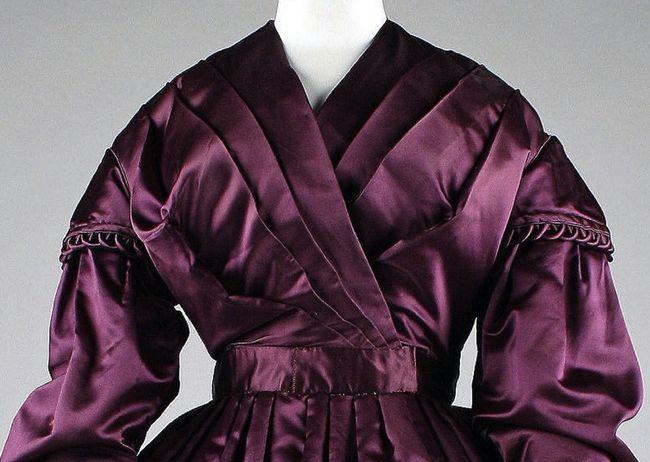 Dress, ca. 1840, British, Silk, Metropolitan Museum of Art, 1999.216.4