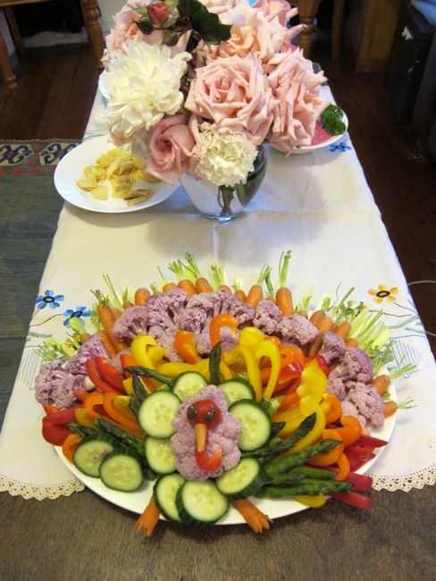 Veggie turkey platter thedreamstress.com