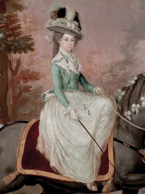 José Campeche, Dama a caballo (Lady on Horseback), last two decades of the 18th century