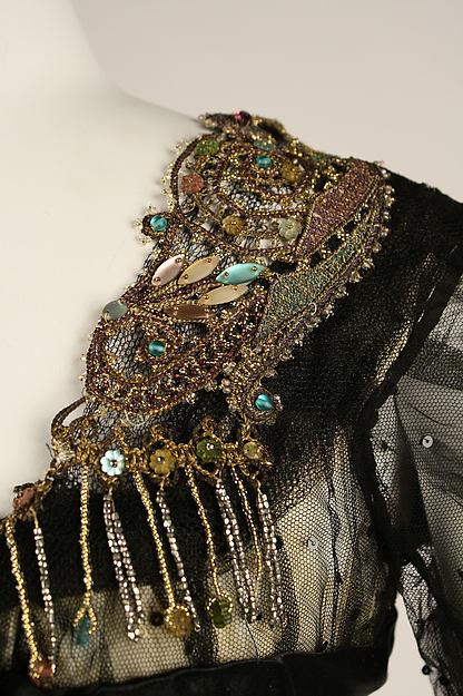 Ball gown, ca. 1908, American, silk, cotton, glass, metallic thread, Metropolitan Museum of Art, 1979.326