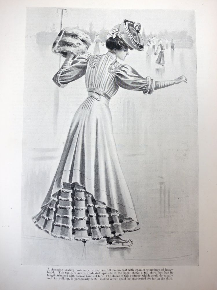 Fashions for skating, 1906, The Girls Own Paper thedreamstress.com