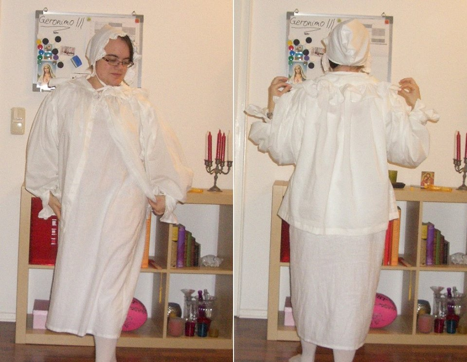 Vanessa's Regency shift & bed-gown HSF14