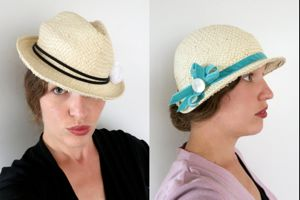 How to turn a modern straw fedora into a '20s style cloche thedreamstress.com