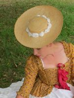 How to turn a straw hat into a bergére thedreamstress.com