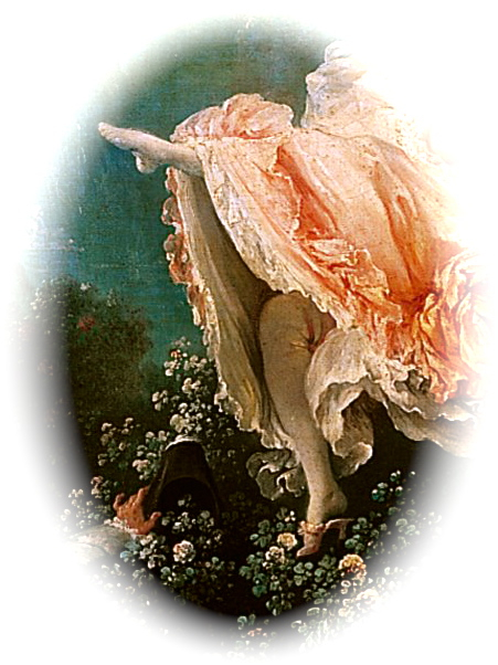 Jean-Honoré Fragonard, The Swing (detail) ca