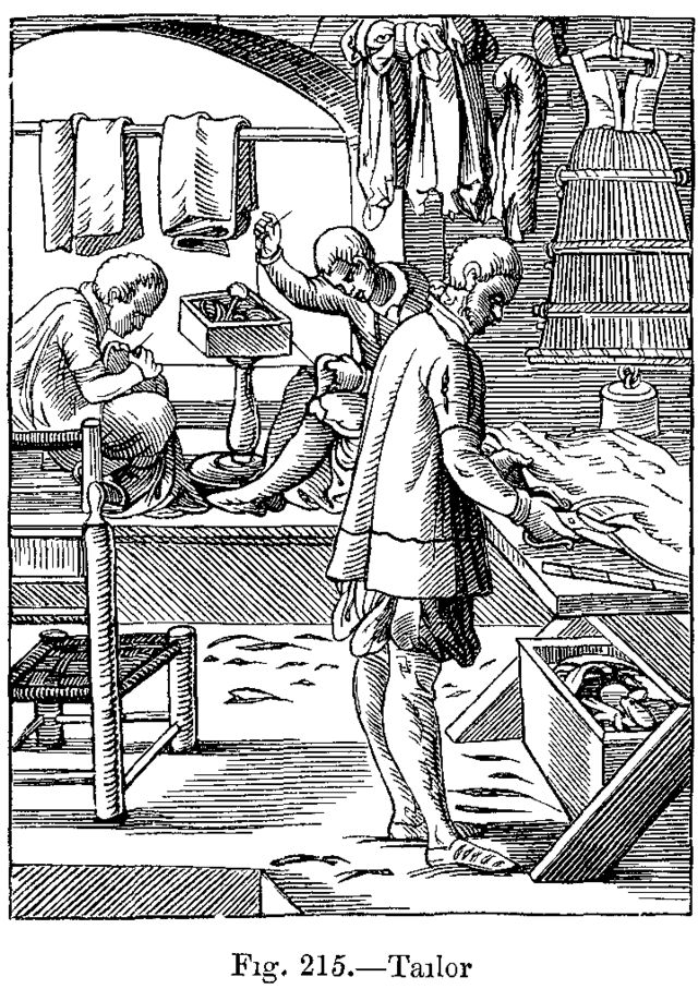 Tailor from Das Ständebuch (The Book of Trades), Jost Amman and Hans Sachs, 1568