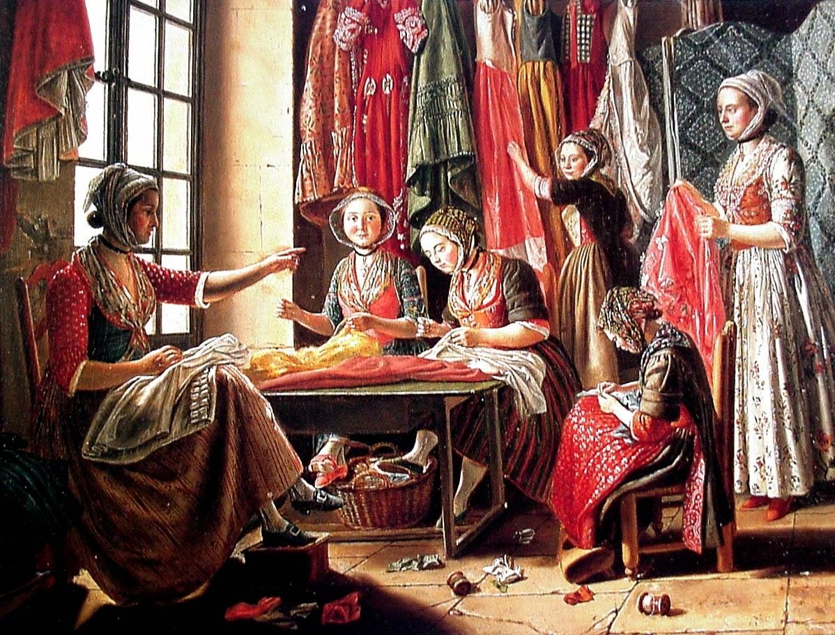 The Sewing Workshop, 1760 Musee Reattu - Arles, France.