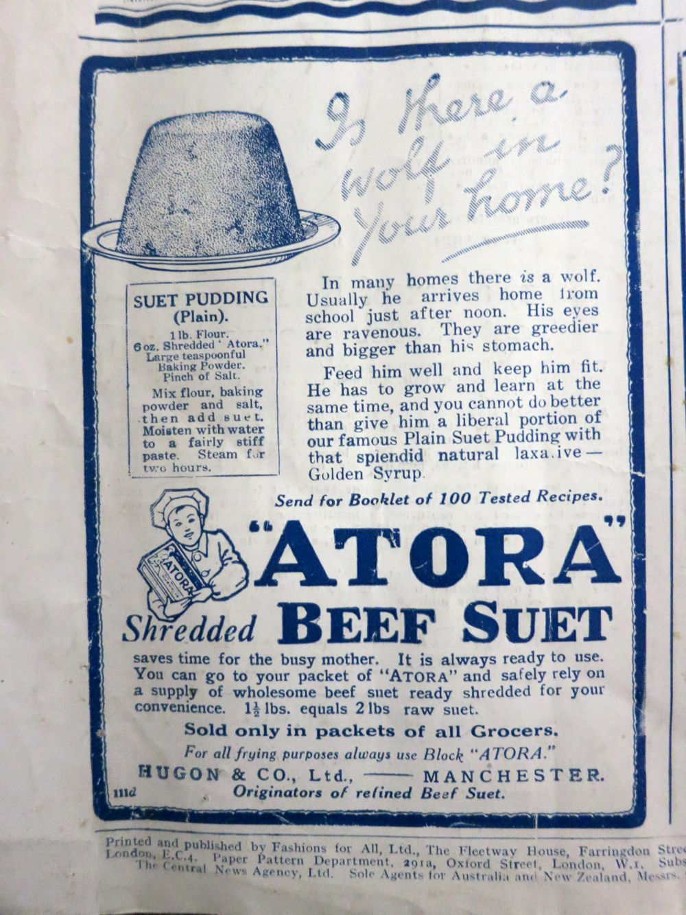 1920s Suet ad thedreamstress
