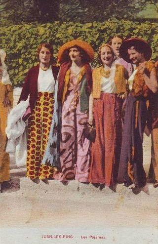 Beach pajamas, 1920s