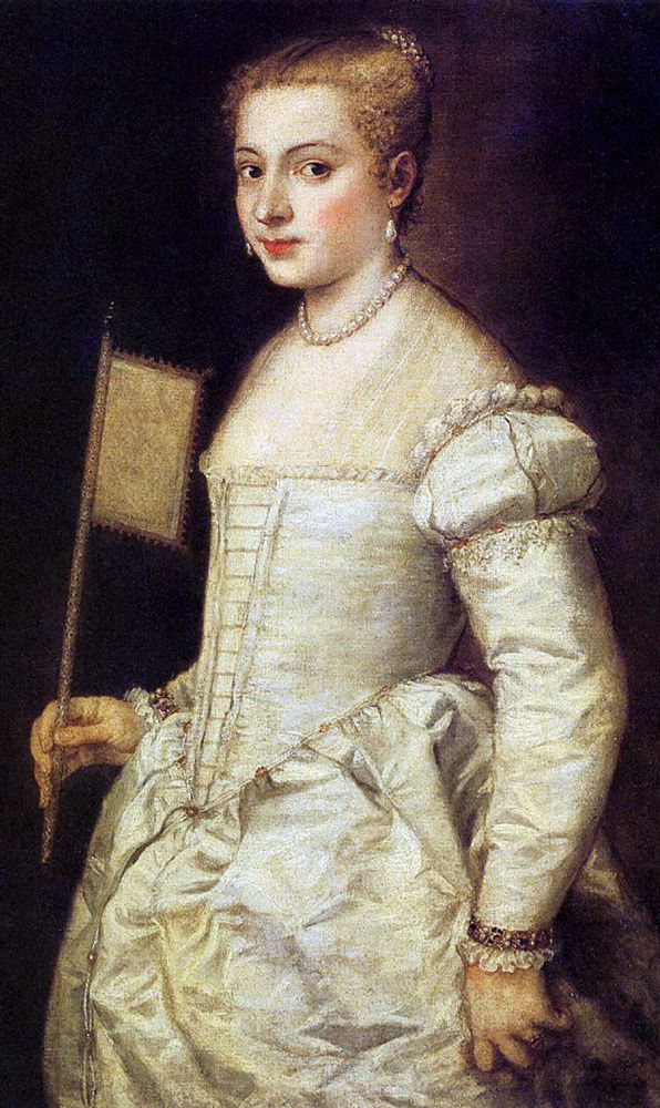 Lady in White, Titian, 1553