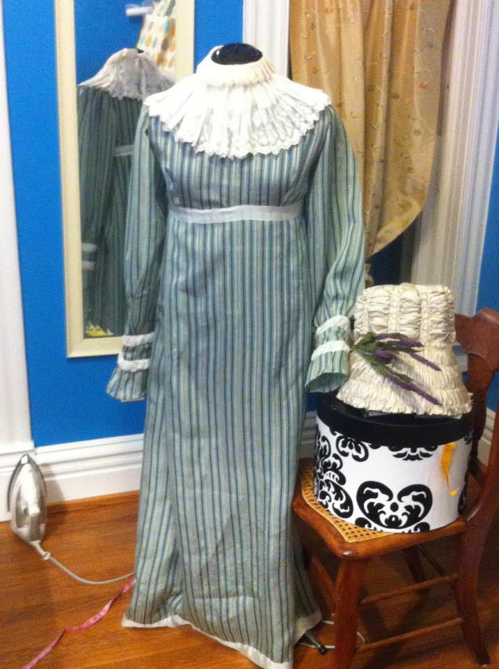 2 Dawn's dress based on an August 1815 fashion plate, HSF 15 Challenge #2