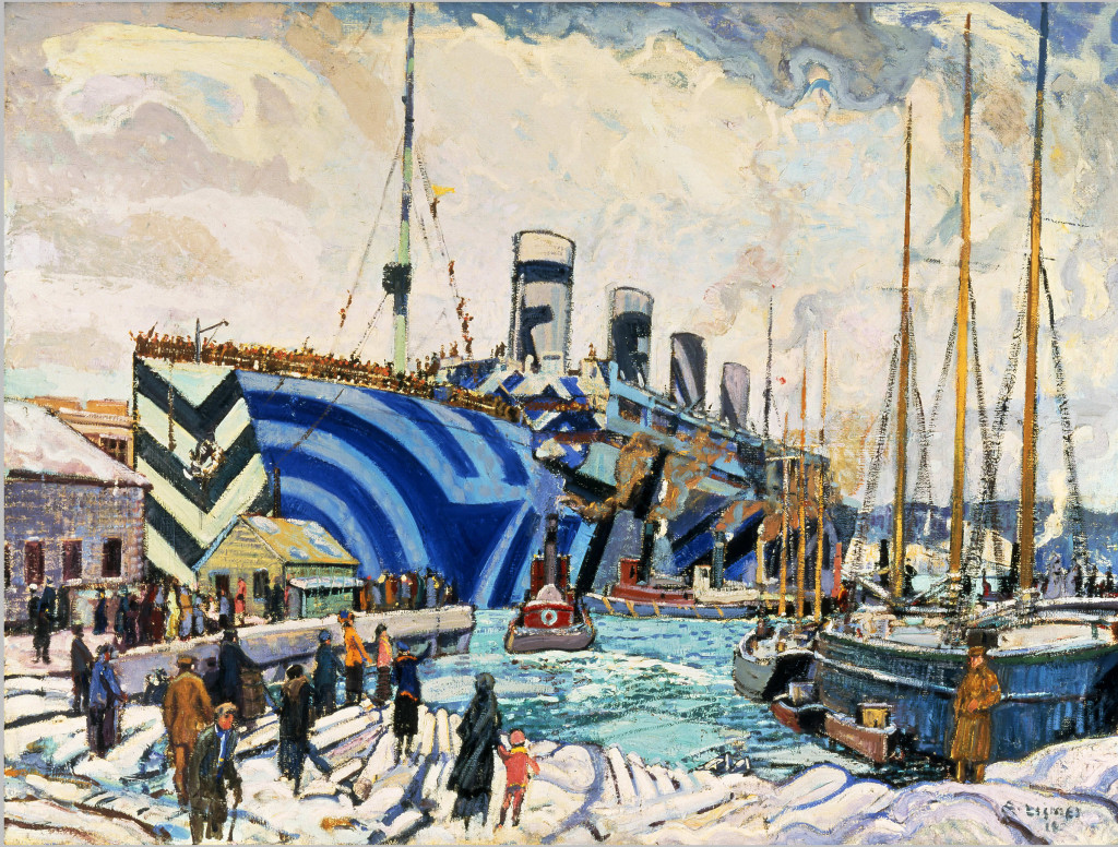 Arthur Lismer (1885–1969)   Title English- Olympic with Returned Soldiers, 1919