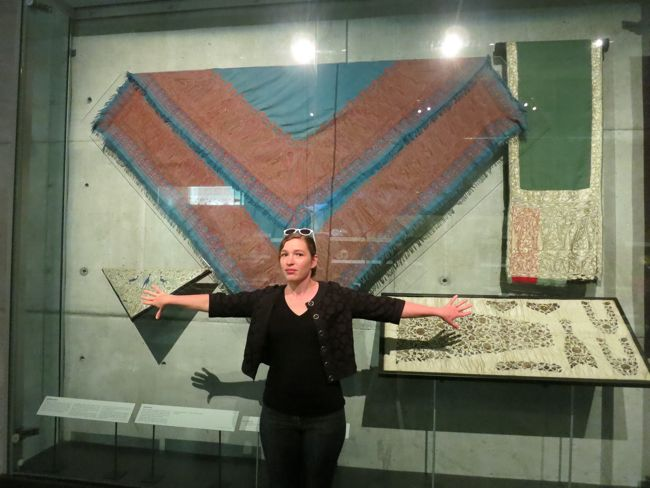 With a paisley shawl, Auckland Museum