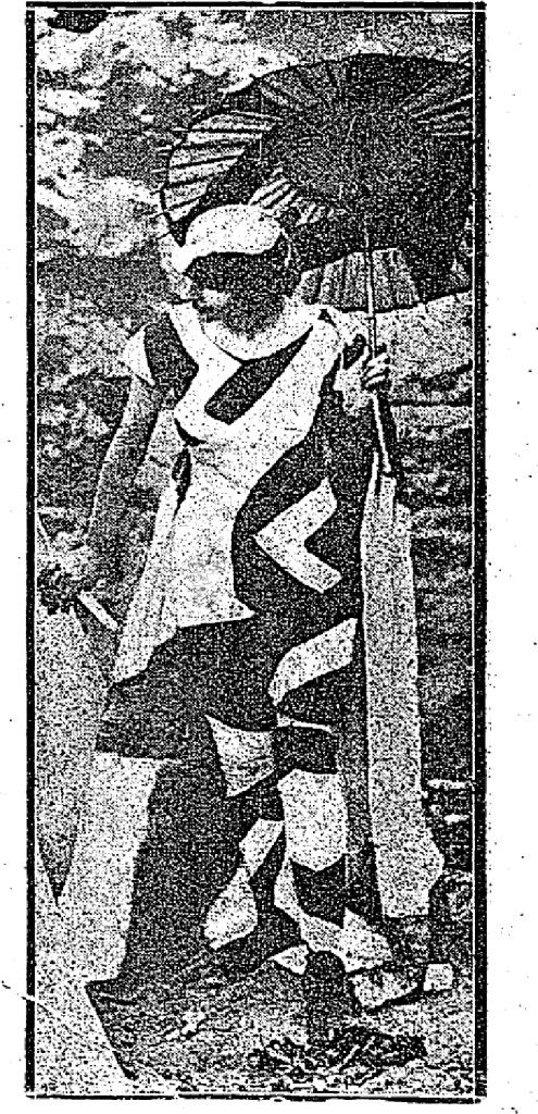 """Dazzle Bathing Suits the Latest Vogue', Free Lance, 6 August 1919, Page 18"