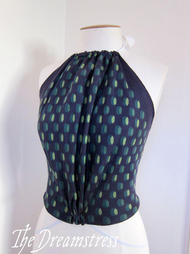 Make a 30s Handkerchief Halter3