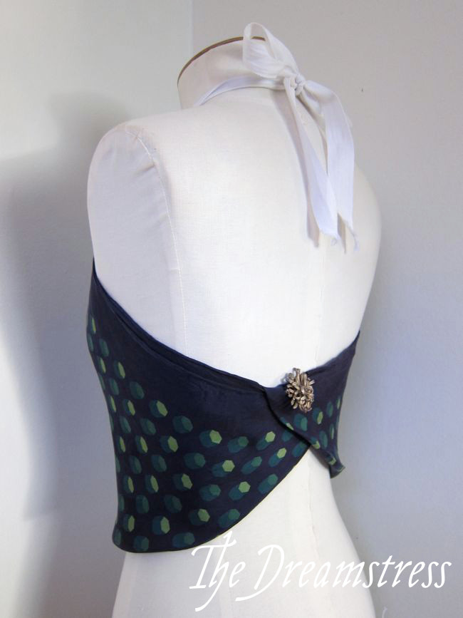Make a 30s Handkerchief Halter6