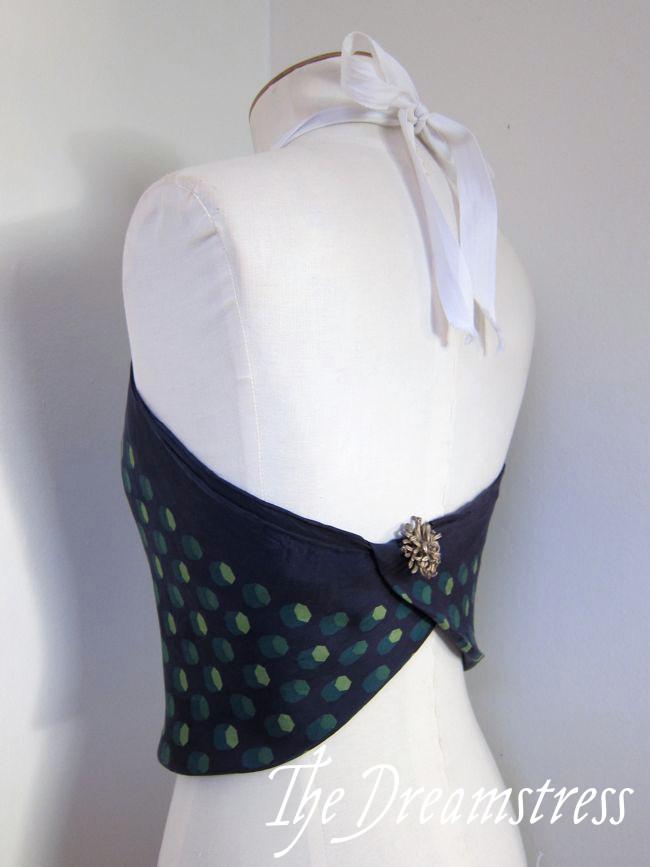 Make a 30s Handkerchief Halter6