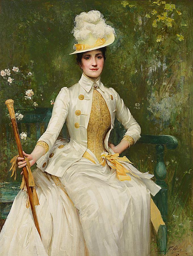 Portrait of Mrs Lockett Agnew, Sir Samuel Luke Fildes, 1887-88