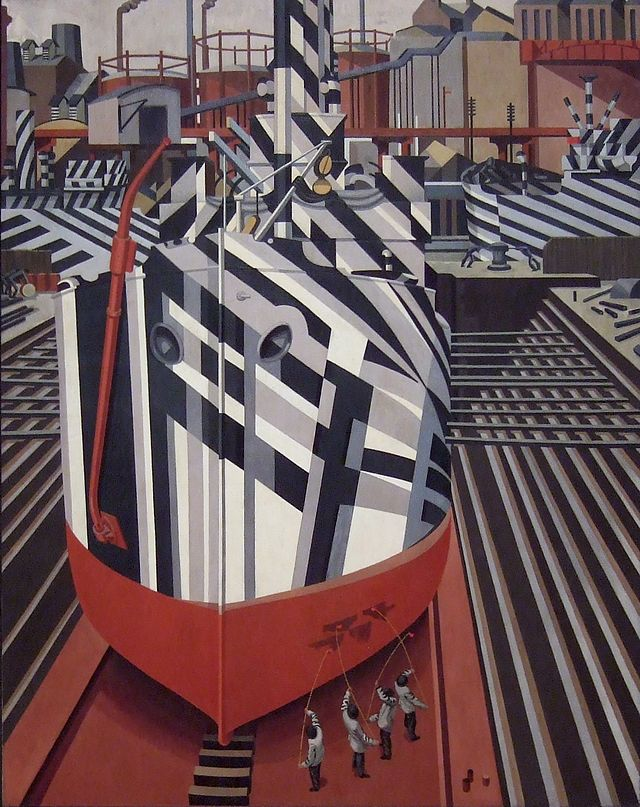 'Dazzle-ships in Drydock at Liverpool', Edward Wadsworth, 1919