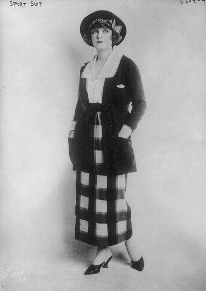 Woman modeling sport suit, 11 June 1920