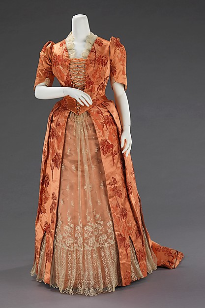 Dinner dress, ca 1886, American, silk, Metropolitan Museum of Art, 2009.300.889 a-b