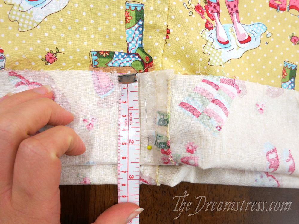 Measuring the front fold