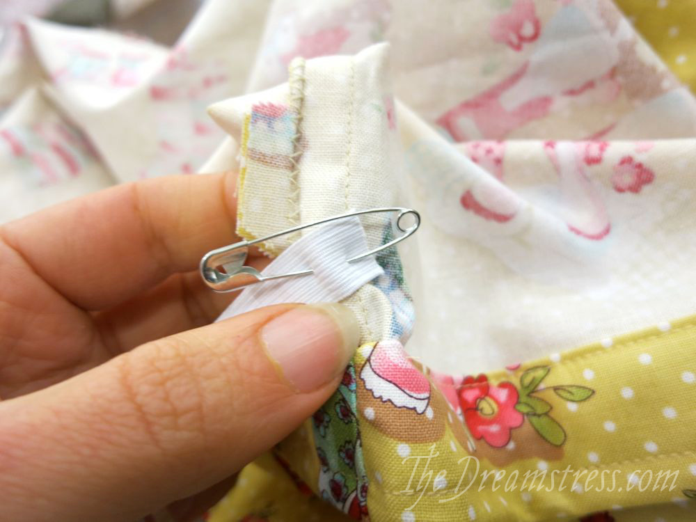 Pinning the other end to the BD seam