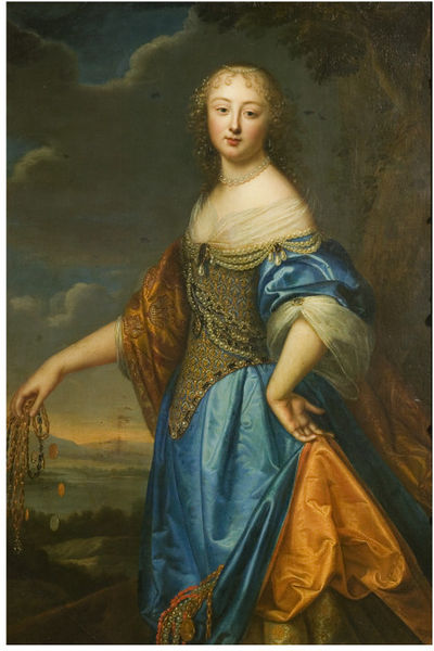Oil on canvas, 'Portrait of a Lady called Jeanne de Marigny', attributed to Charles and Henri Beaubrun, 1650-1660 V&A Museum, 566-1882