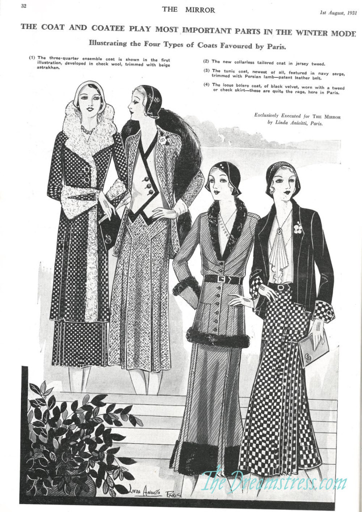 Winter 1931 fashions, thedreamstress.com1