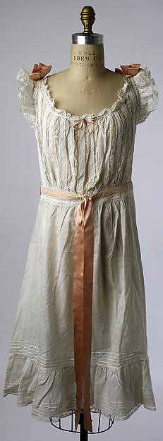 Chemise, 1910s, American, cotton, Metropolitan Museum of Art, CI38.29.3