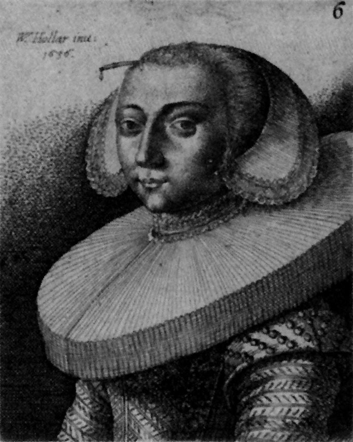 Woman with a Bodkin in Her Hair Wenceslaus Hollar, 1636, via Mara Riley